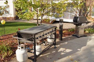Gas grills on patio